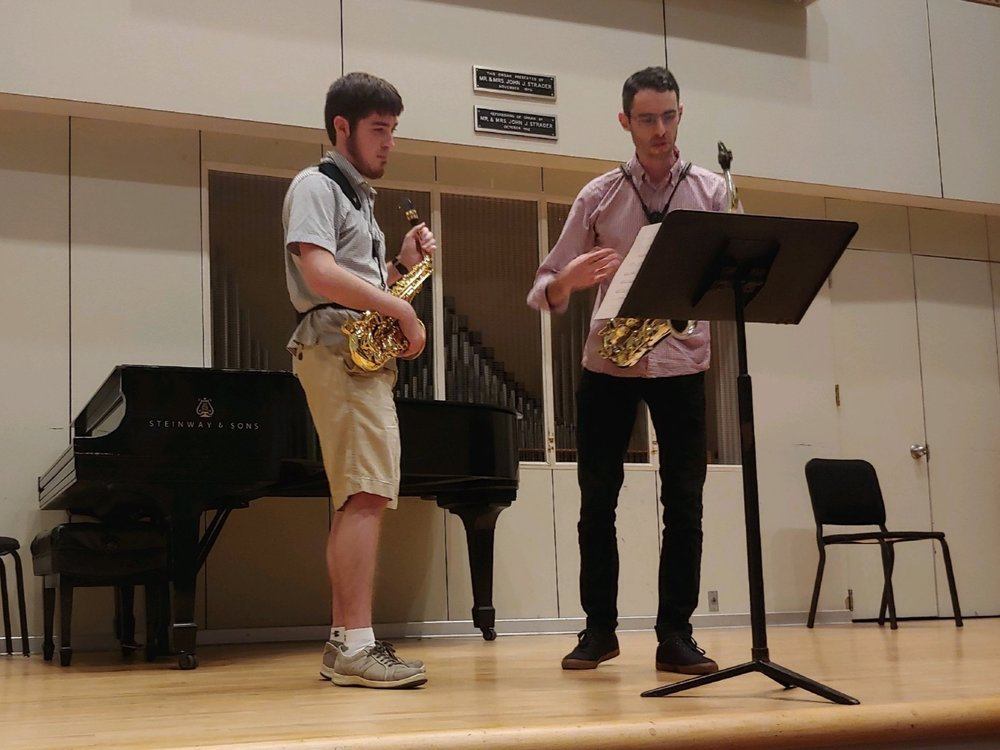 Saxophone masterclass at University of Cincinnati College Conservatory of Music