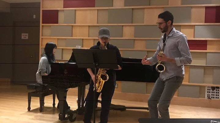 Saxophone masterclass at New England Conservatory