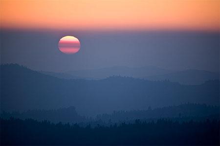 Castle Point sunset