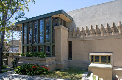 Hollyhock House - east facade