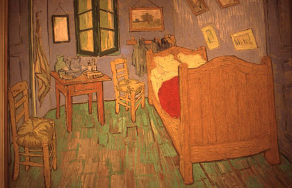 """The Room at Arles"" by Vincent Van Gogh, 1888,  at the Art Institute of Chicago."