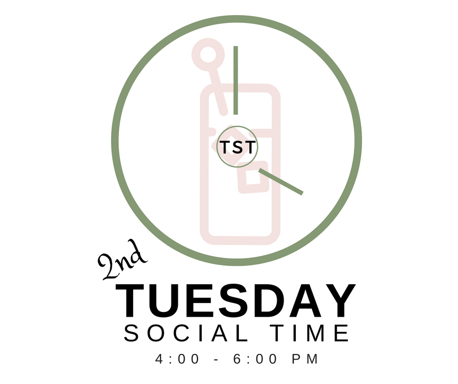 Once a month we gather at a local restaurant for  Tuesday Social Time  from 4-6 PM. This casual event is a perfect time to bring a guest in a fun and relaxing setting. Most recently we met at Cork Wine and Grille at Watermark Country Club.