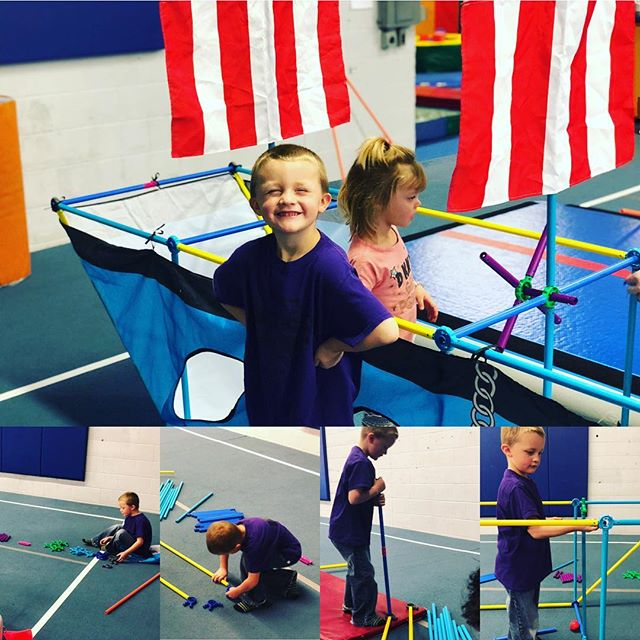 We love the versatility of our @antsypantsplay set and the determination of the five-year-old who followed the instructions to build this pirate ship for he and the younger kids in class to play in. #preschoolactivities #multiageclassroom