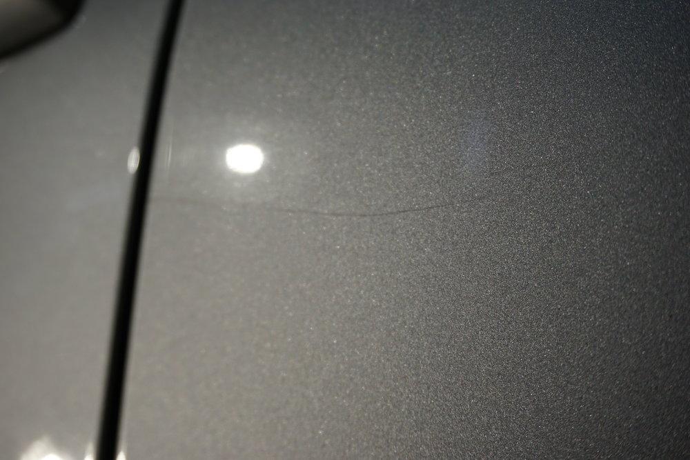 Big scratch on the rear door