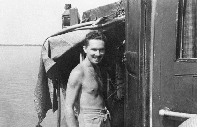 Major Ivan Lyon MBE The Gordon Highlanders officer commanding Operation Jaywick on board MV Krait during the mission Operation Jaywick was conducted from 1 September 1943 to 19.jpg