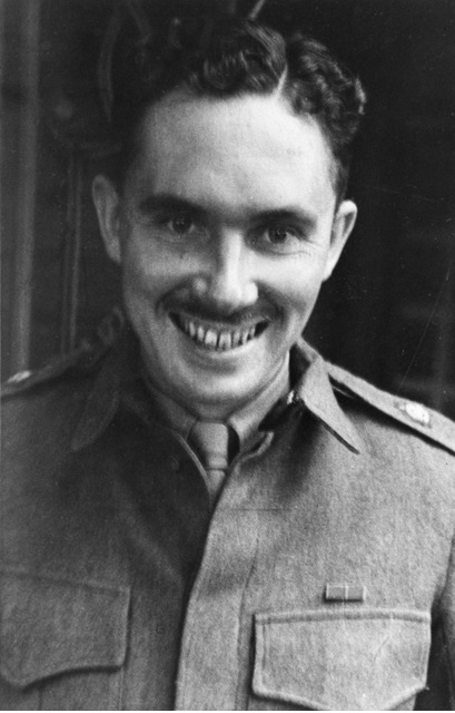 Informal portrait of Major Ivan Lyon MBE The Gordon Highlanders after the successful completion of Operation Jaywick This operation was conducted from 1 September 1943 to 19 October 1943.jpg