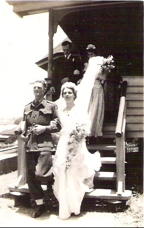 Sergeant Max Weber on his wedding day, a few weeks before he was KIA during Operation Copper