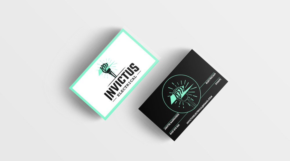 Invictus Electrical - Brand Identity | Branded Collateral Design
