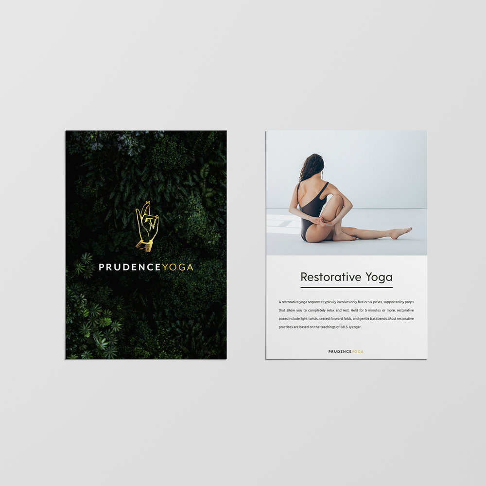 Prudence YogA - Brand Identity | Branded Collateral Design