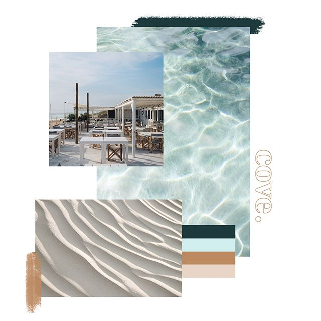 """Personal projects are mega important because they give you a chance to think about the kind of work that you REALLY want to do and the kind of clients that you want to work with. So, here is a mood board for """"cove."""" a personal project celebrating summer; it's textures, light, and palette."""
