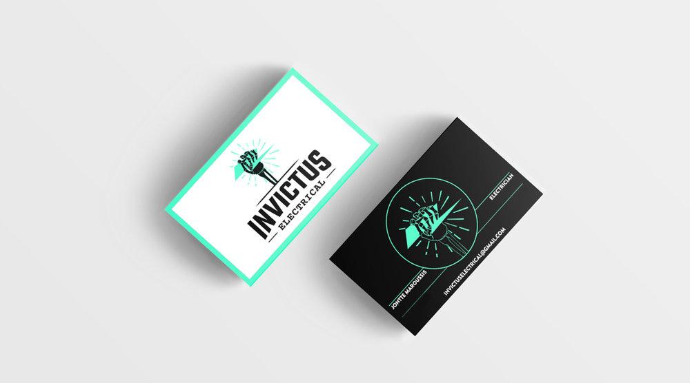 Invictus Electrical - Brand Identity   Branded Collateral Design