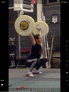 My PB thus far in the snatch. Theres more to come, but not just yet...