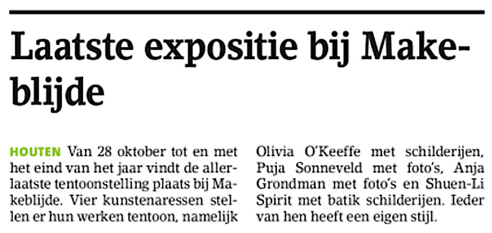 t'Groentje Houtens Nieuws    7 November 2018