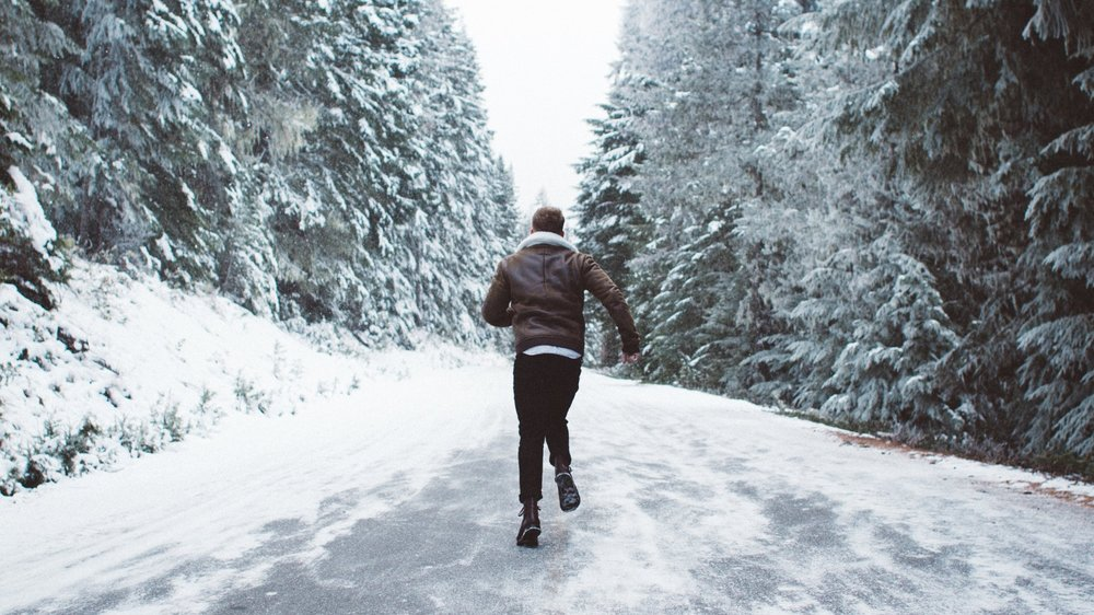 Running in winter conditions -