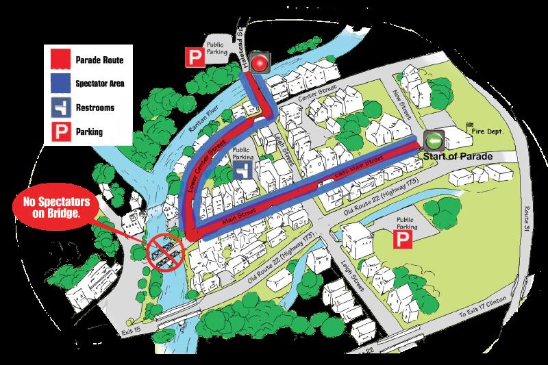 Clinton Christmas Parade Route Map