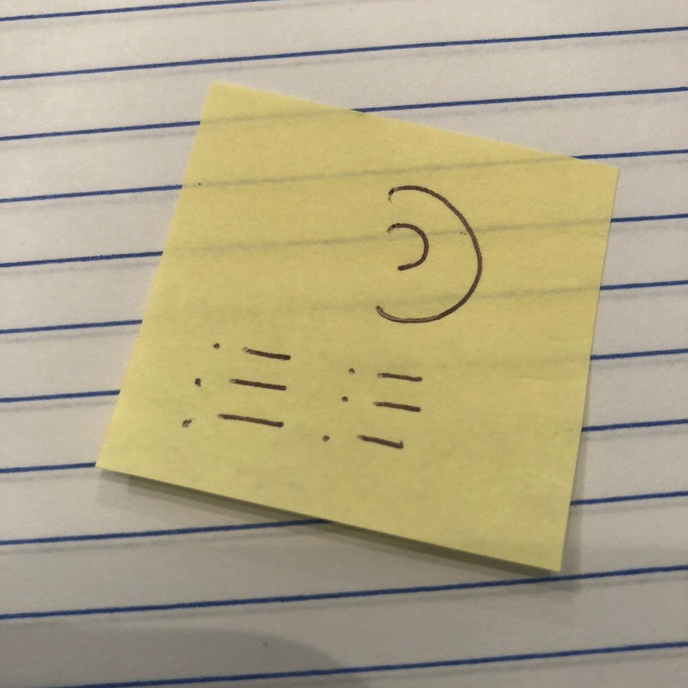 Symbol of… - This symbol is my approach to facilitation. I listen to all the voices (often, chaos) and create lists and timelines (creating order and structure).