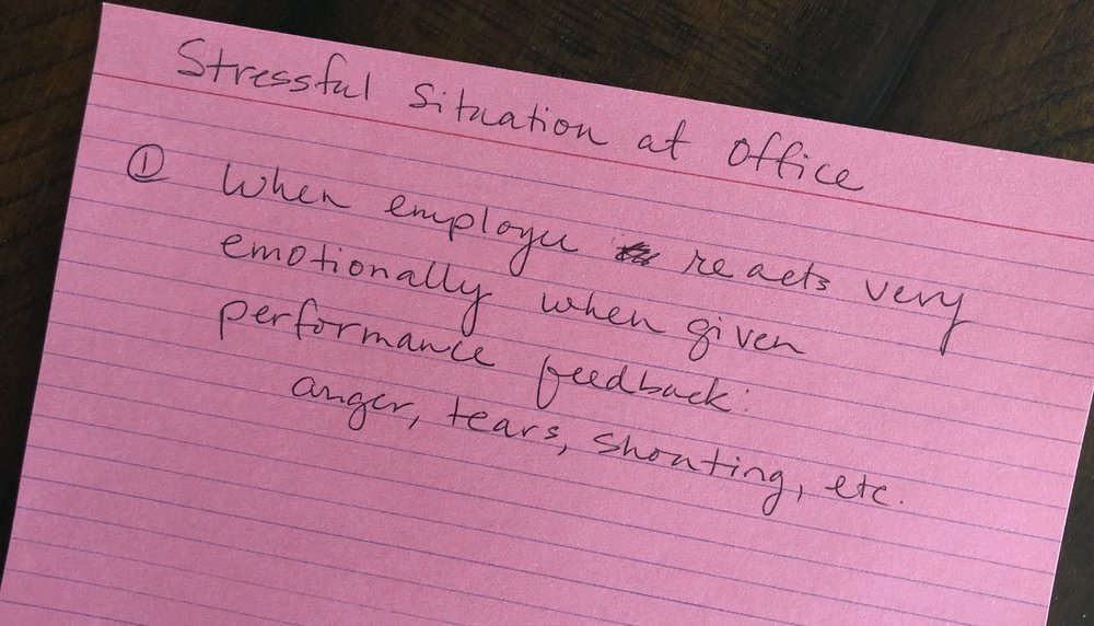 """Anger, tears, shouting…"" - Definitely a stressful situation! An employee reacts very emotionally when given performance feedback. What to do?"