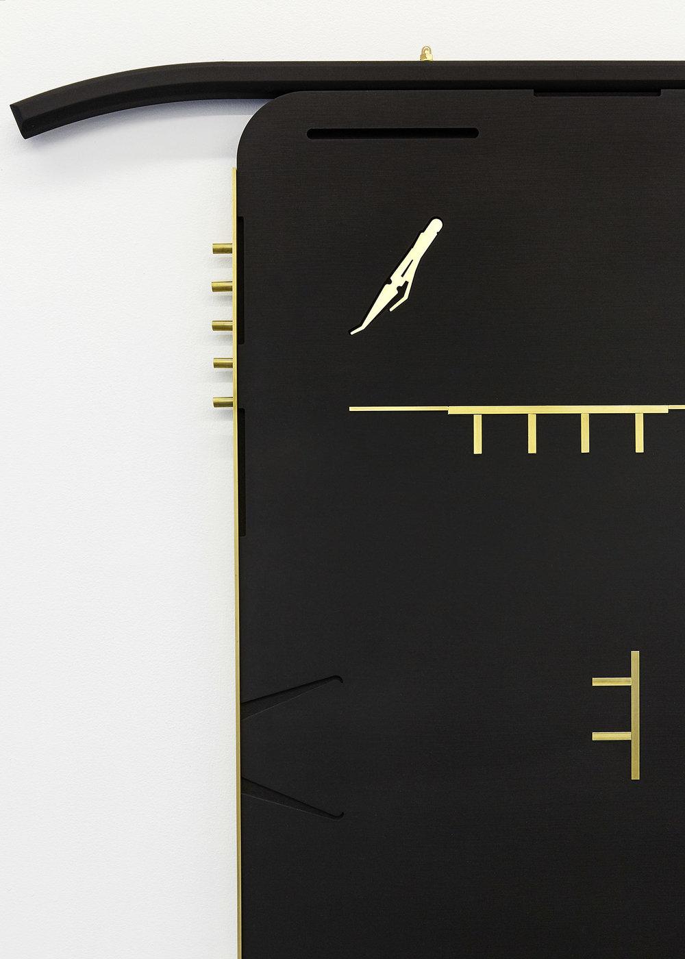 Graver , 2018 Valchromat & brass 127.5 x 91 x 2.5cm