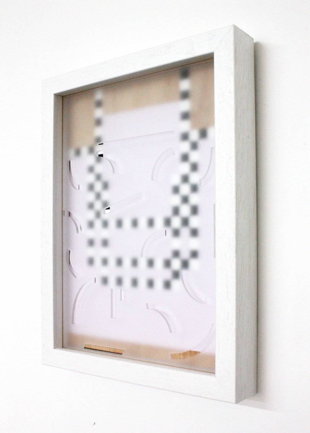 Love painting (Version 2),  2012 Wood, household paint, frosted perspex, glass