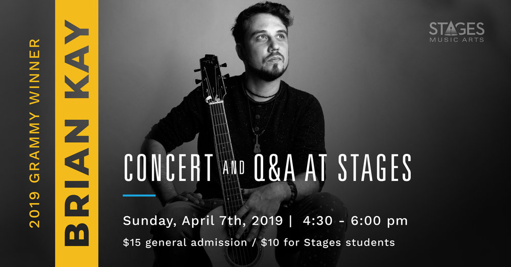 BRIAN KAY CONCERT AND Q&A - Sunday, April 7th4:30PM – 6:00PMStages Music Arts (map)Come enjoy a concert and Q&A by an amazing multi-instrumentalist and expert in baroque music!