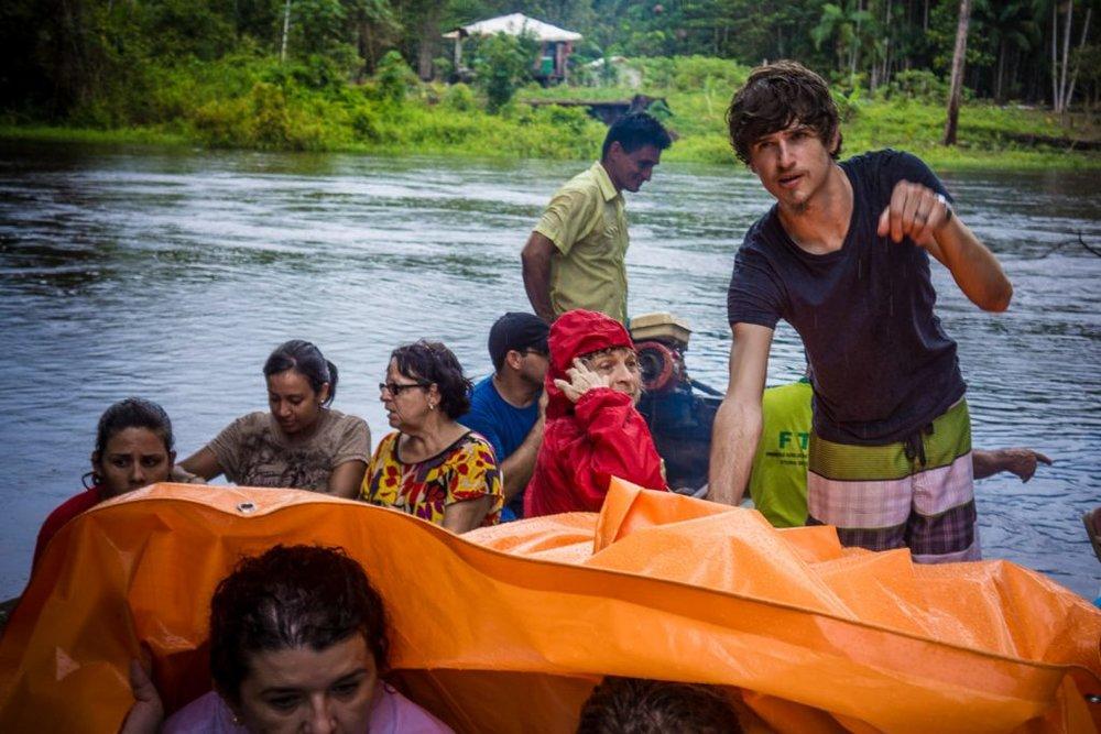 Jason on an Amazonian tributary