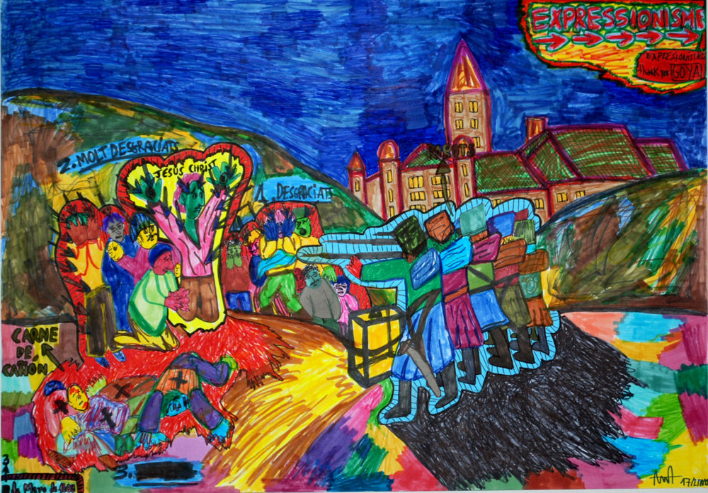 """Tres de Mayo de 1808"" , 2012   Marker on paper, 42 x 59.4 cm"
