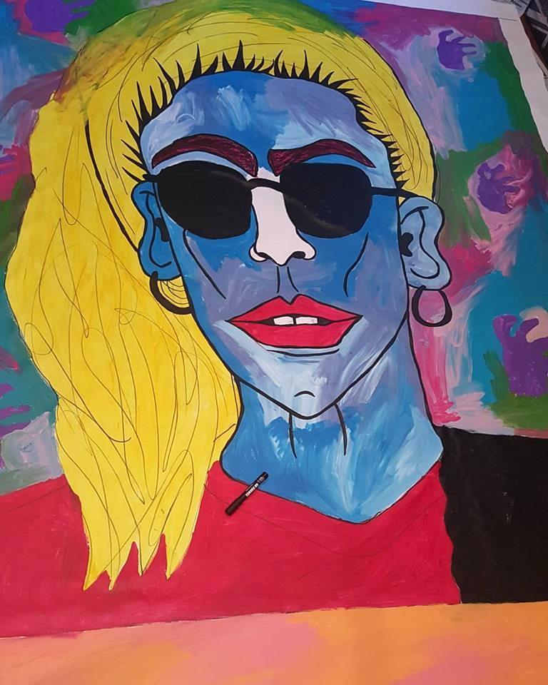 "Portrait of  ""Lady Gaga""  in progress, 2016"