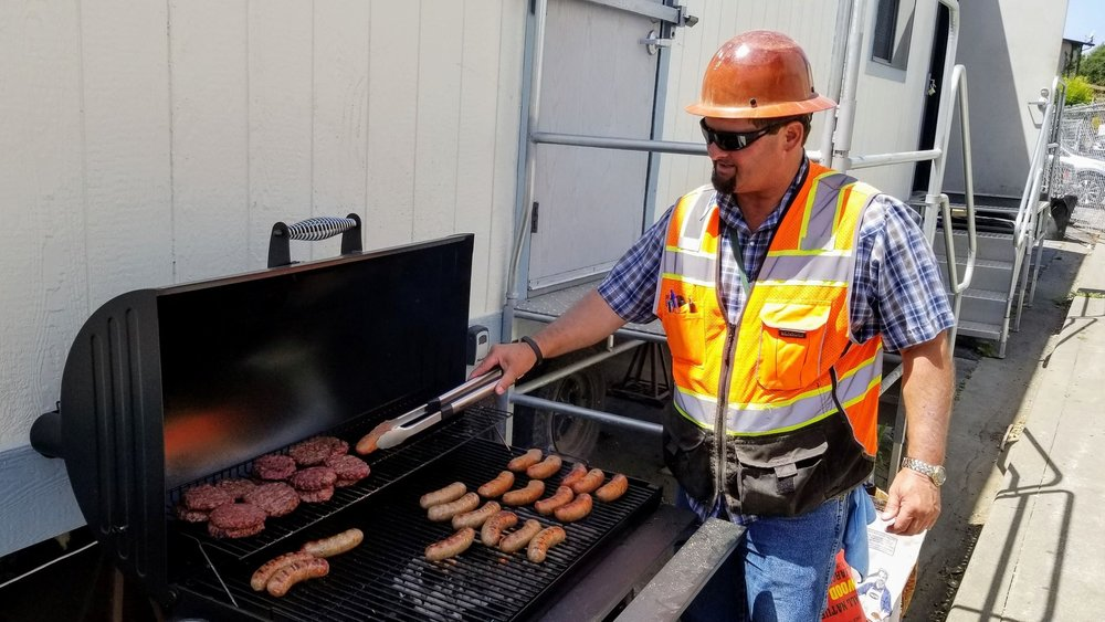 Superintendent, Bryan McCann, cooking for the Subs Napa Park Homes - Napa, CA