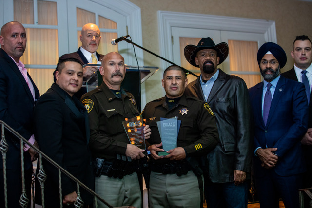 The BLUE Magazine 2018 award of valor recipients lvmpd officers Paul Solomon & Officer William Umana