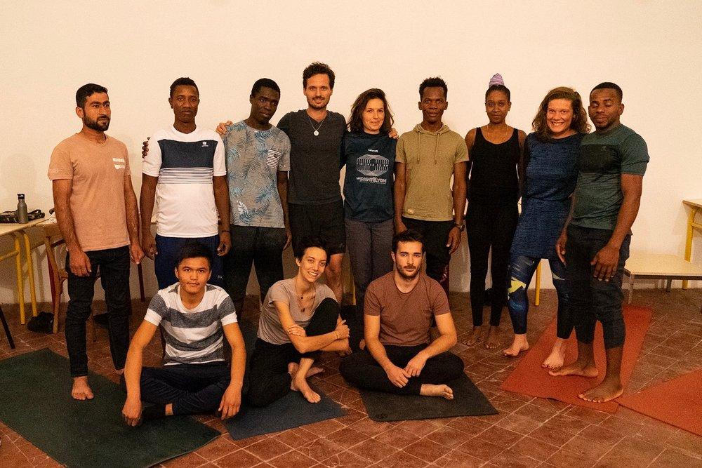La plupart des participants sont originaires de Guinée, d'Afghanistan et de Syrie.