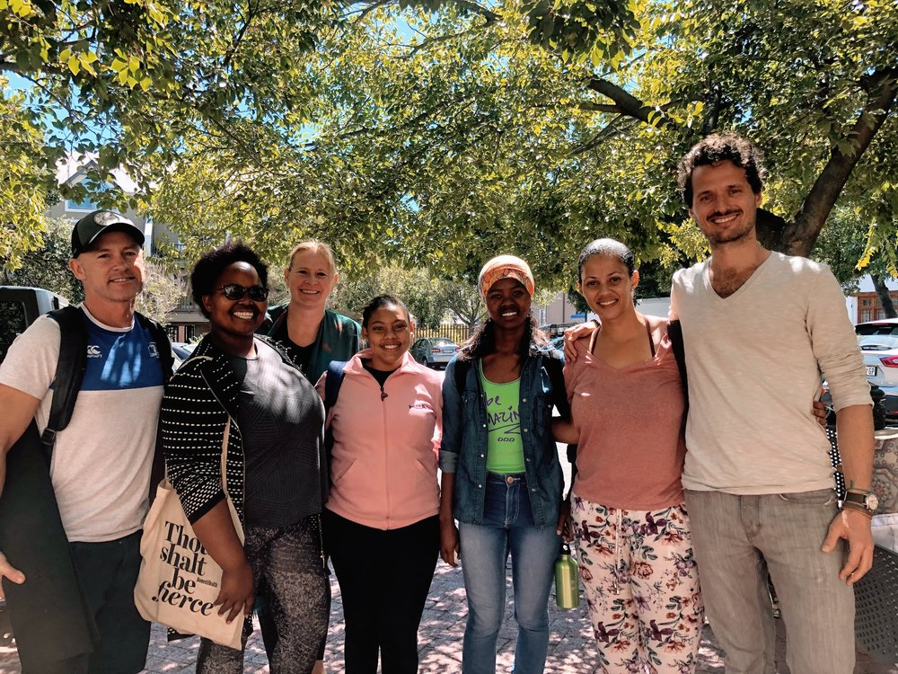 """The  Earth Child Project  team turns the classrooms of Lavender Hill and Khayelitsha township into """"living"""" interactive learning environments for yoga, environmental education and life skills. We are facilitating knowledge sharing sessions to talk about trauma-sensitive practices."""
