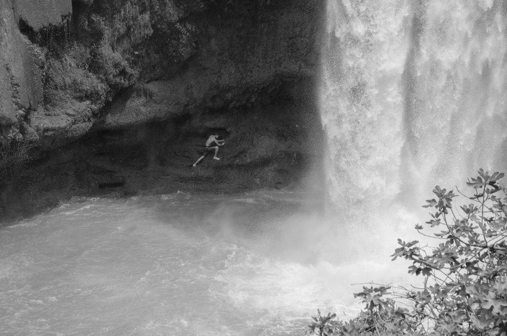 Man against the falls