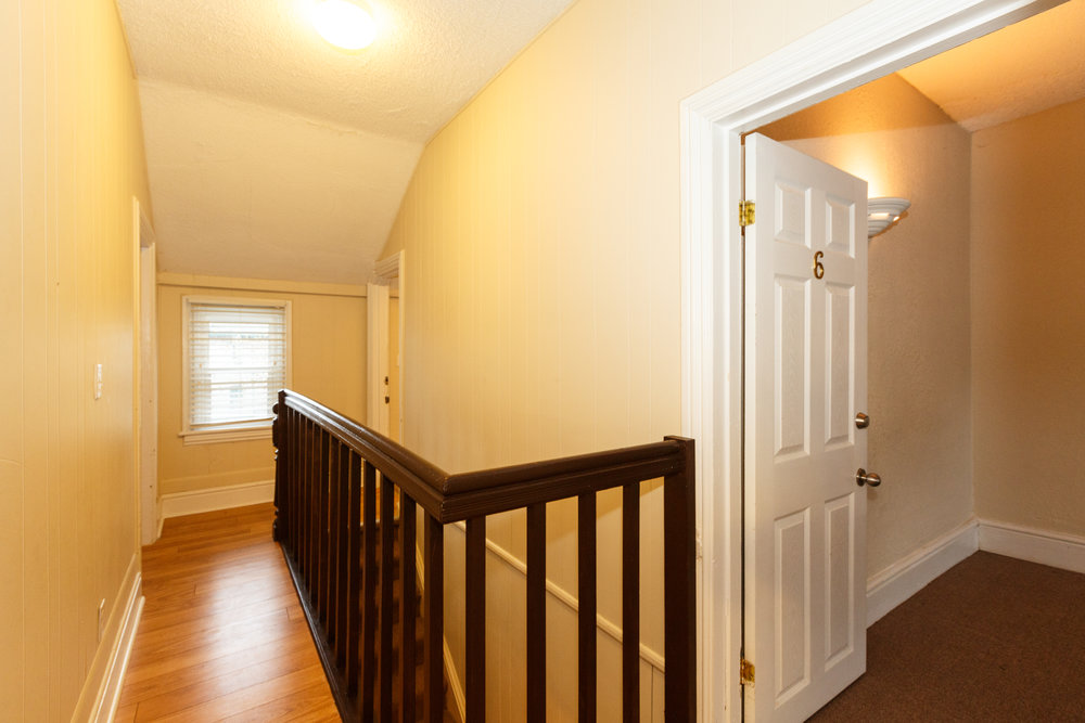 332 Brock St. _u007c_ Upstairs Hallway, Clean, Fresh Paint, Hardwood Floors.jpg