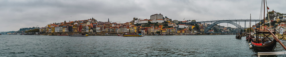 Porto Skyline shot from Gaia - Stitched Panorama from 31 photos. Over 200Megapixels of detail. Fuji X-T2