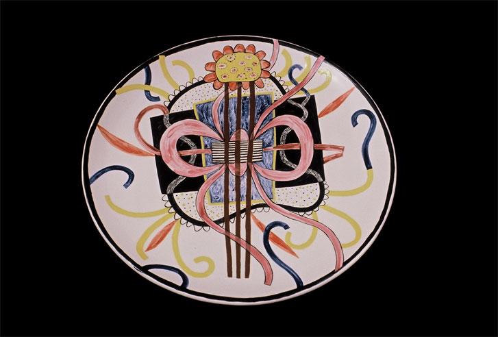 """Ribbons Dish 12"""" diameter [Sold]"""