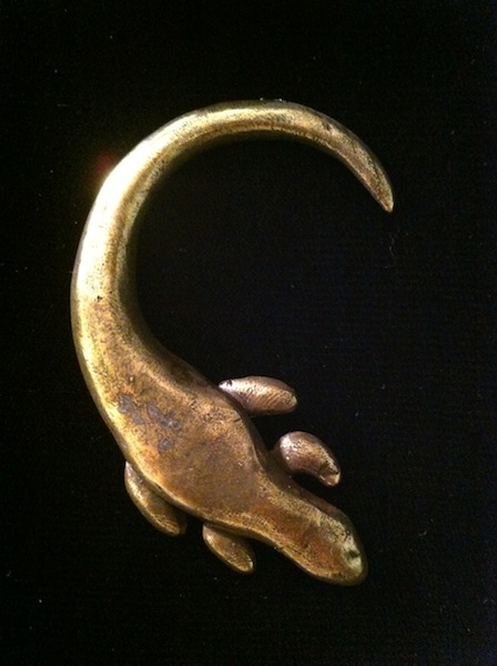 Iguana Pin (oxidized Copper) $70