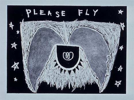 "Please Fly Etching 24"" x 14"""