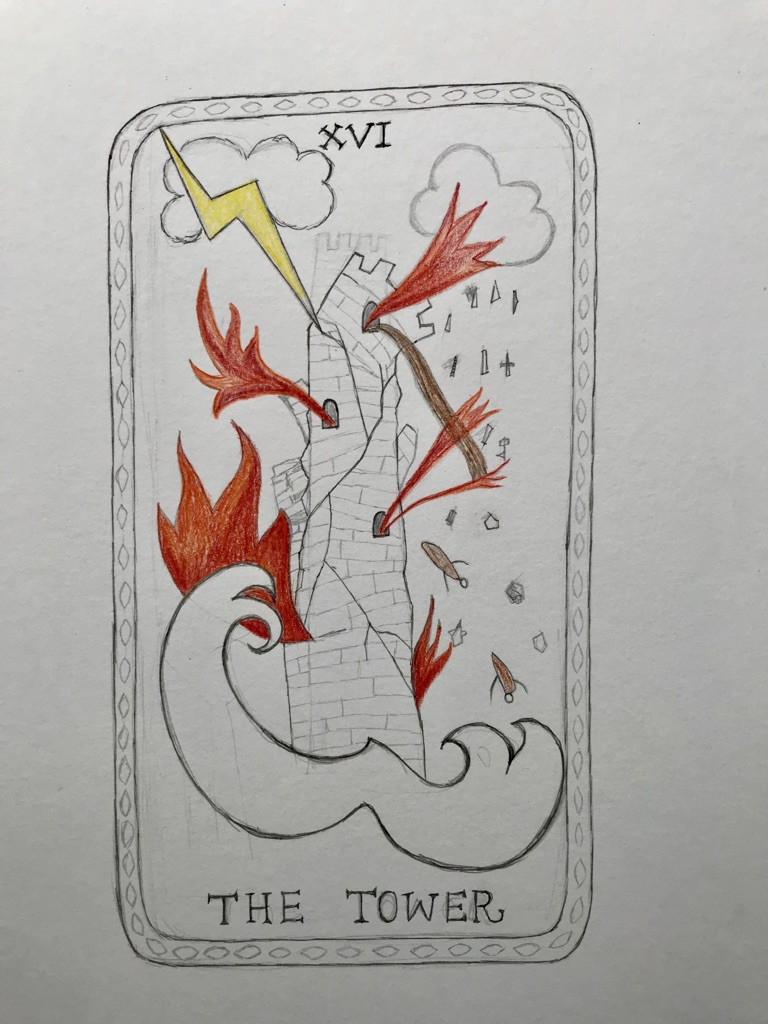 Day 10 Sketch for a Tarot Card.