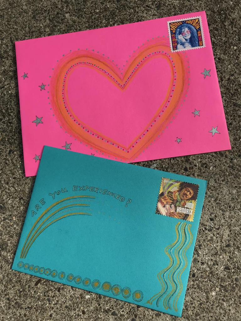 Day 15 Envelope Decorating.