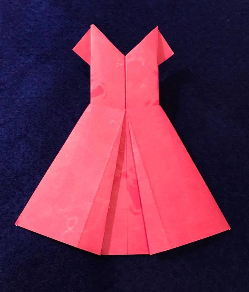 Day 48 Origami Paper Dress
