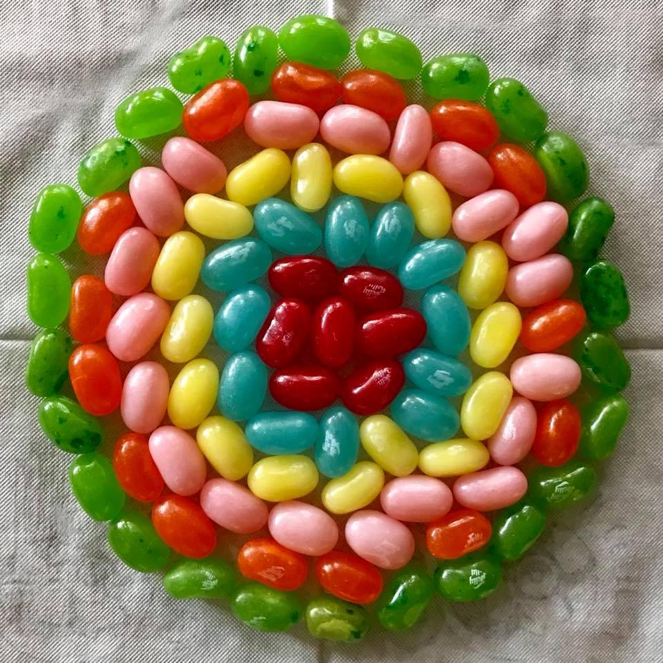 Day 86 Jelly Bean Mandala.