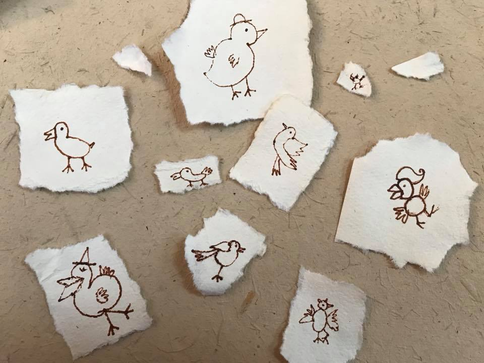 Day 93 Birds on Paper