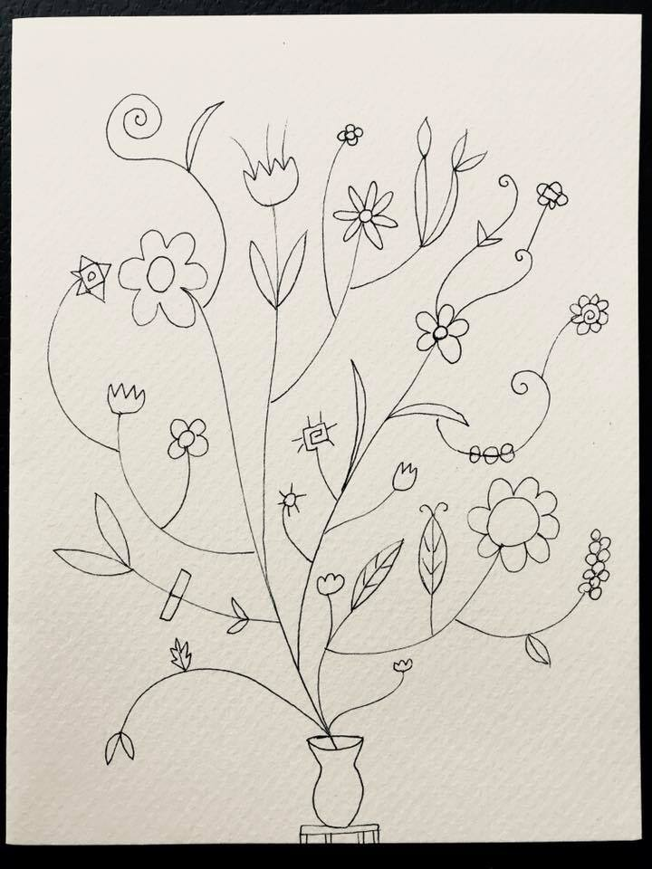 Day 133 Floral Drawing