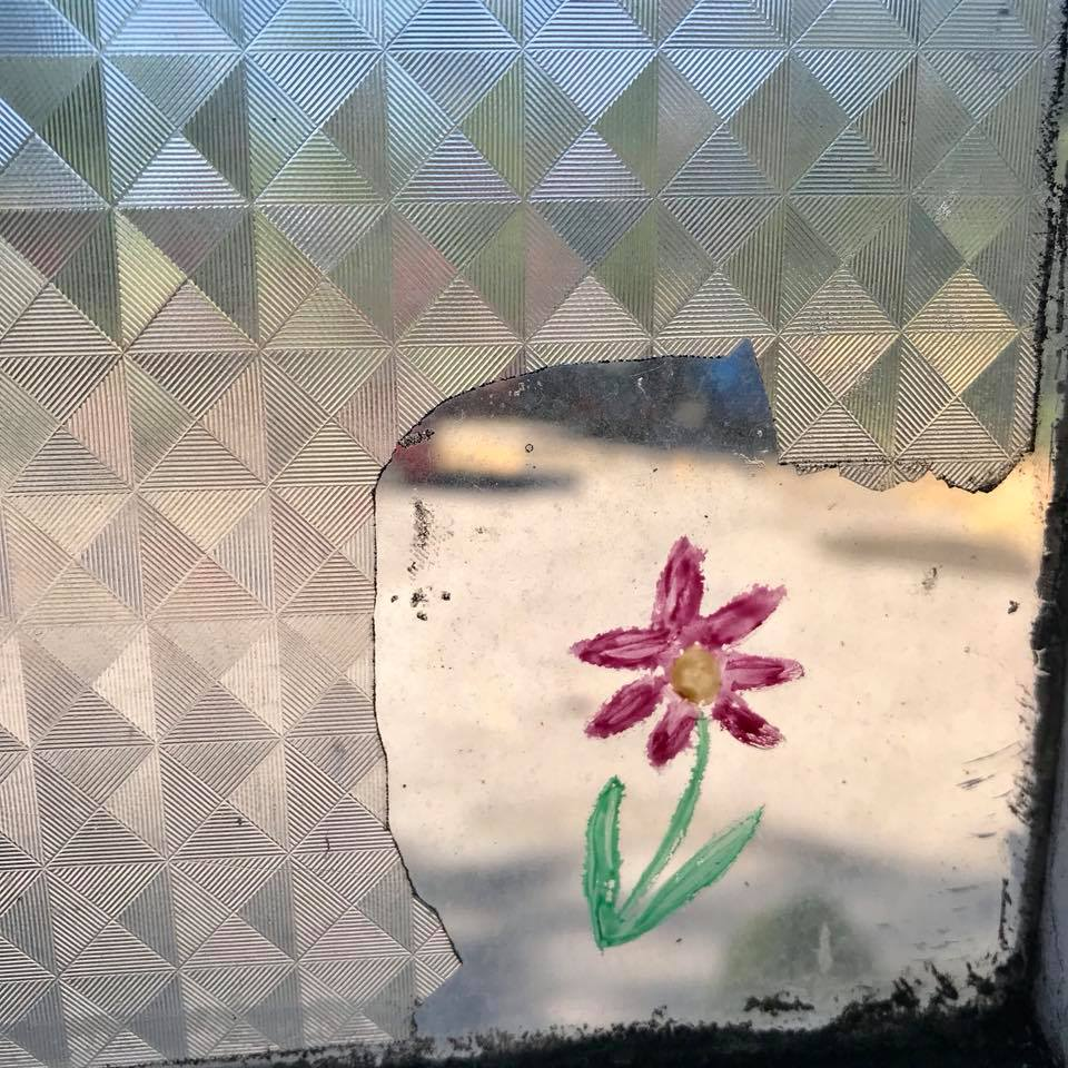 Day 147. Tiny painting on a window pane.
