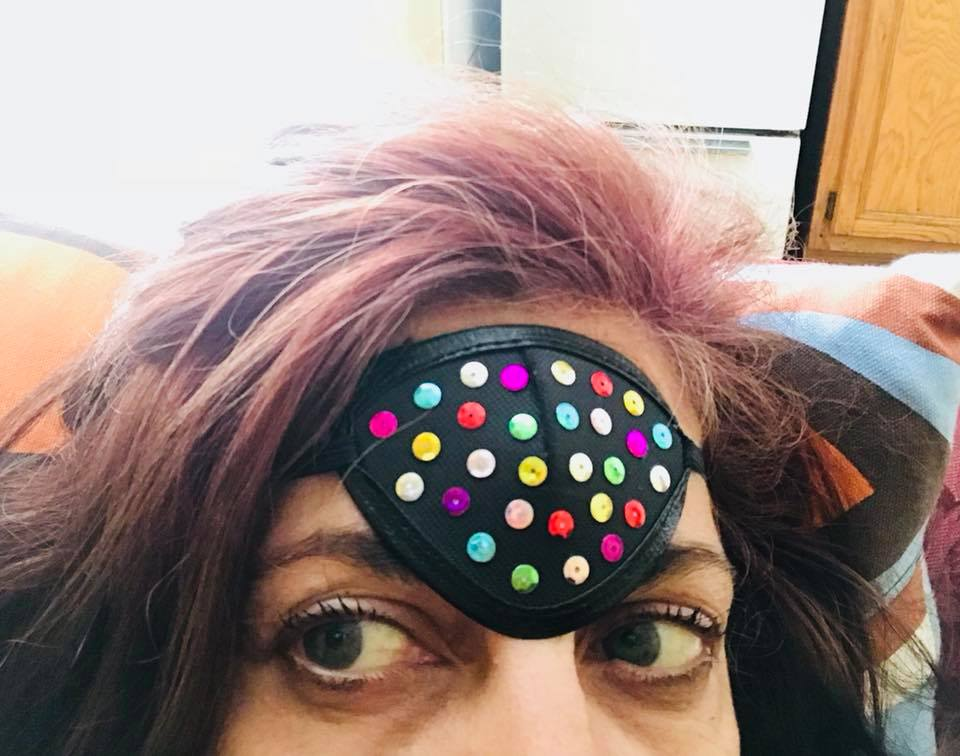 Day 208. Sequined Third Eye Patch