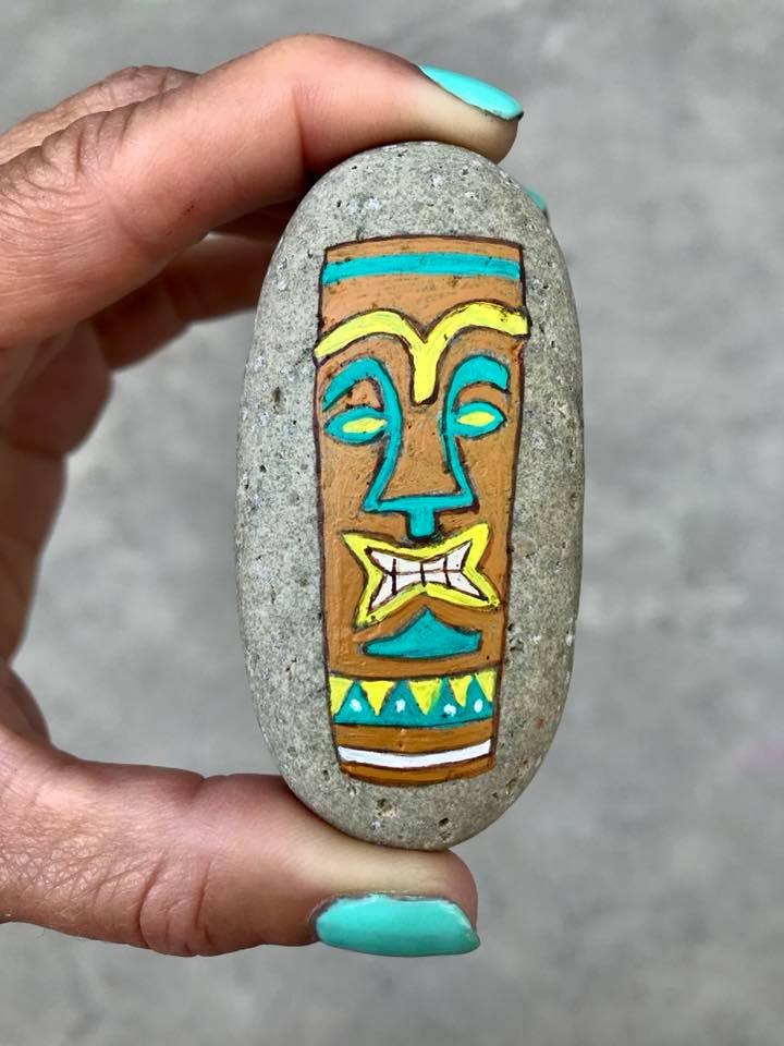 Day 210. Painted a Tiki Rock
