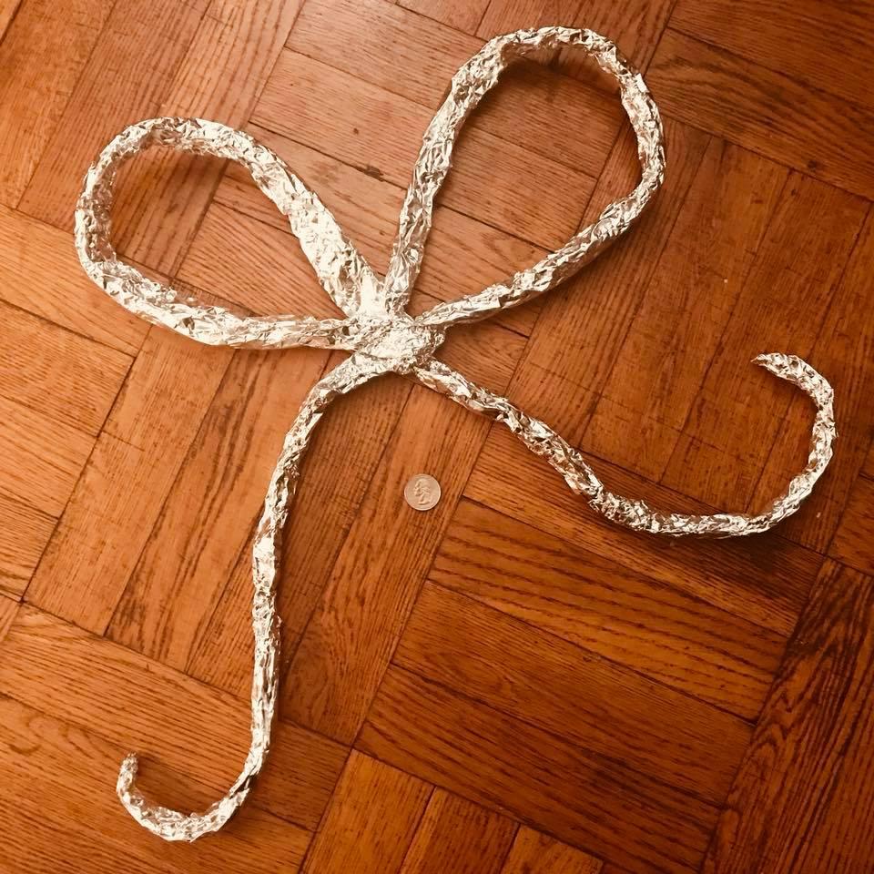 Day 243. Giant Tin Foil Bow