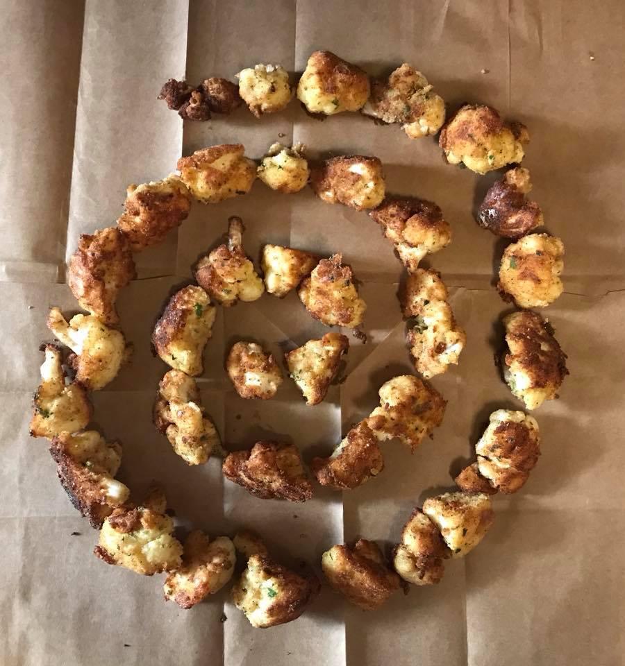 Day 246. Spiral of Fried Cauliflower