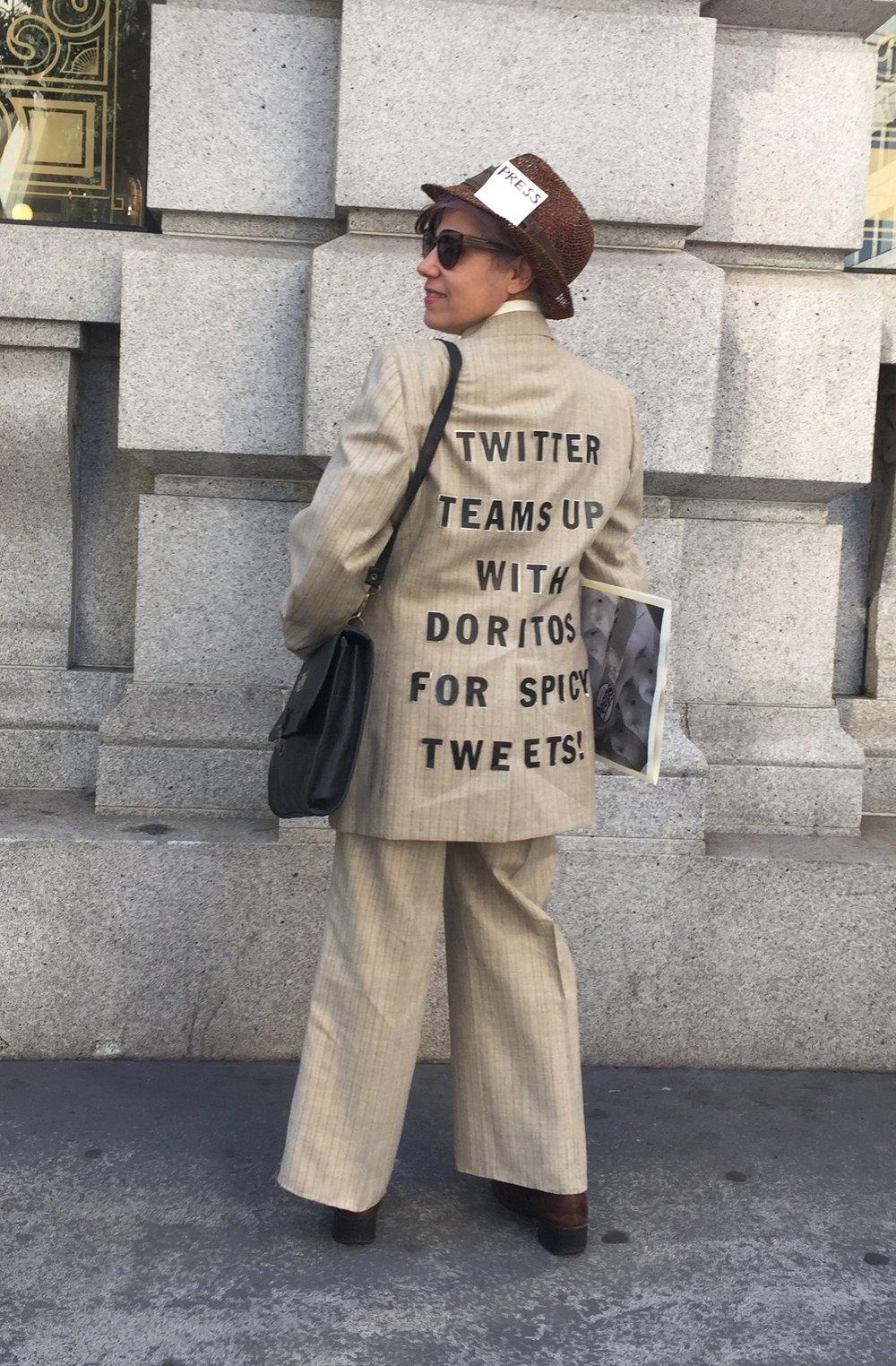 Twitter meets Doritos Press Costume