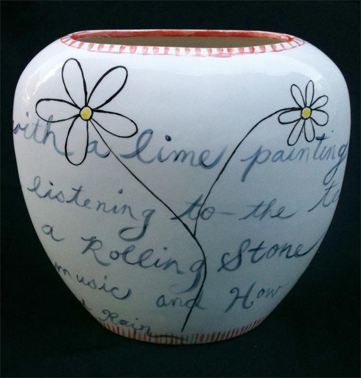 "Lime Vase 8"" x 8"" x 3"""